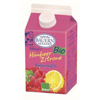 10x0,5l Fruchtbuttermilch Himbeer-Zitrone